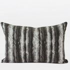 Luxury Stripe Metallic Chenille Lumbar Pillow