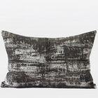 Luxury Metallic Chenille Lumbar Pillow Color: Brown