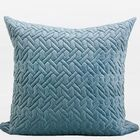 Luxury Braid Textured Quilting Throw Pillow Color: Sky Blue