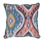 Manado Ikat Indoor/Outdoor Throw Pillow (Set of 2) Color: Indigo, Size: 24