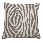 Zebra Indoor/Outdoor Throw Pillow (Set of 2) Color: Pebble, Size: 24