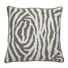 Zebra Indoor/Outdoor Throw Pillow (Set of 2) Color: Stone, Size: 22