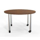 Panther Training Table with Wheels Size: 29'' H X 48'' W X 48'' D, Tabletop Finish: Montana Walnut