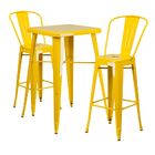 Jesse 3 Piece Bar Height Dining Set Color: Yellow