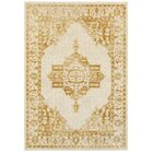 Amberly Beige/Gold Area Rug Rug Size: Rectangle 3'10