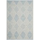 Oxbow Hand-Woven Light Blue Area Rug Rug Size: Rectangle 5' x 8'