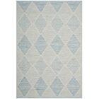 Oxbow Hand-Woven Light Blue Area Rug Rug Size: Rectangle 4' x 6'