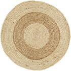 Koppel Hand-Woven Wheat/Cream Area Rug Rug Size: Round 8'
