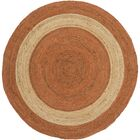 Koppel Hand-Woven Bright Orange Area Rug Rug Size: Round 8'