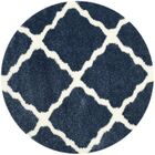 Macungie Blue / Ivory Indoor Area Rug Rug Size: Round 6'7