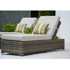 Valentin Chaise Lounge with Cushion Fabric: Cast Ash