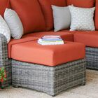 Valentin Ottoman with Cushion Fabric: Canvas Brick