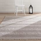 Oxbow Hand-Woven Ivory/Anthracite Area Rug Rug Size: Rectangle 9' x 12'