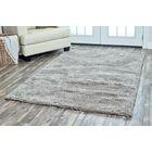 Lin Shag Hand-Tufted Gray Area Rug Rug Size: Rectangle 5' x 8'