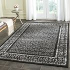 Norwell Black/Silver Area Rug Rug Size: Rectangle 6' x 9'