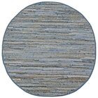 Synthia Handcrafted Area Rug Rug Size: Round 5'