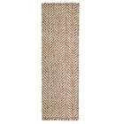 Garrett Hand-Woven Natural/cream Area Rug Rug Size: Runner 2'6