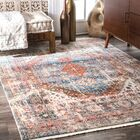 Houston Blue/Orange Area Rug Rug Size: Rectangle 6' 7