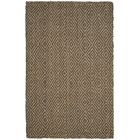 Grassmere Hand-Woven Natural/Grey Area Rug Rug Size: Rectangle 5' x 8'