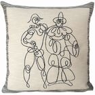 Arlequin Et Pierrot  Throw Pillow