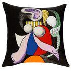 Femme a La Fleur  1932 Throw Pillow