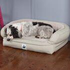 EZ Wash Fleece Headrest Dog Bed with Poly-Filled Color: Sage, Size: Medium (43