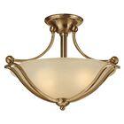 Bolla 2-Light Semi Flush Mount Shade Color: Etched Opal Glass, Bulb Type: FSI, Finish: Olde Bronze