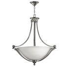 Bolla 4-Light Bowl Pendant Finish: Olde Bronze, Bulb Type: CAND, Shade Color: Etched Opal Glass