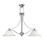 Bolla 2-Light Kitchen Island Pendant Finish: Brushed Nickel