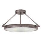 Driden 4-Light Semi Flush Mount Finish: Antique Nickel, Bulb Type: LED