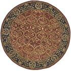 Anatolia Red Area Rug Rug Size: Round 6'