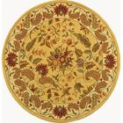 Helena Missy Floral Hand Hooked Wool Ivory/Red Area Rug Rug Size: Round 5'6