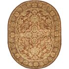 Golden Jaipur Tradition Brown/Red Area Rug Rug Size: Oval 7'6