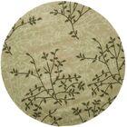 Lockwood Green Floral Area Rug Rug Size: Round 6'