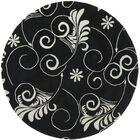 Sanders Black/Ivory Area Rug Rug Size: Rectangle 5' x 8'