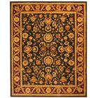 Anatolia Charcoal/Red Area Rug Rug Size: Rectangle 9'6