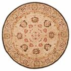Anatolia Hand-Woven Wool Brown Area Rug Rug Size: Round 4'