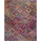 Sergio Hand-Tufted Pink/Green Area Rug Rug Size: Rectangle 8' x 10'