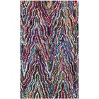 Harbin Hand-Tufted Cotton Blue/Brown Area Rug Rug Size: Rectangle 3' x 5'