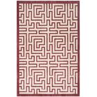 Infinity Red/Beige Area Rug Rug Size: Rectangle 5'1