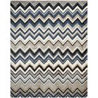Tahoe Grey / Light Blue Geometric Rug Rug Size: Rectangle 4' x 6'