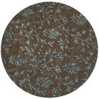 Alvan Hand-Tufted Brown / Light Blue Area Rug Rug Size: Round 6'