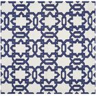 Dhurries Hand-Woven Wool Ivory/Purple Area Rug Rug Size: Square 6'