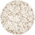 Maritza Floral Wheat/Beige Indoor/Outdoor Area Rug Rug Size: Round 7'