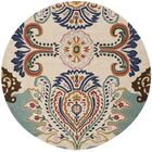 Rudra  Area Rug Rug Size: Round 5'