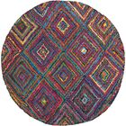 Sergio Hand-Tufted Pink/Green Area Rug Rug Size: Round 4'