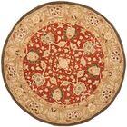 Anatolia Rust/Green Area Rug Rug Size: Round 6'