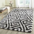 Barcelona Graphite & White Area Rug Rug Size: Rectangle 5' x 8'