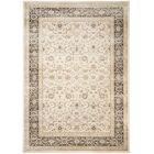Mainville Power Loom Ivory/Black Area Rug Rug Size: Rectangle 8' x 11'