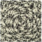 Freda Hand-Tufted Black/Gray Area Rug Rug Size: Square 6'